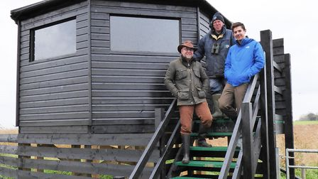 Alan Miller from Suffolk Wildlife Trust with Richard Carter and Ben Orchard from Adnams