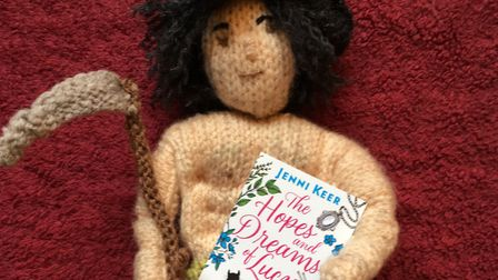 A pocket-sized Poldark: complete with scythe, abs and nipples. And a copy of Jenni's first published