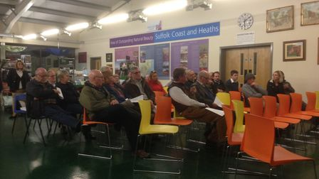 Members of the community came to meeting to raise their concerns about having sex offenders at Holle