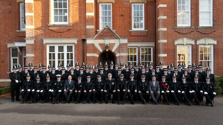 The group of 56 news officers. Picture: ESSEX POLICE