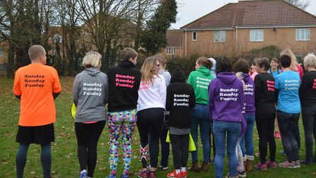 Saturday's Great Cornard parkrun was billed as a 'SRF Takeover,' in recognition of a local running