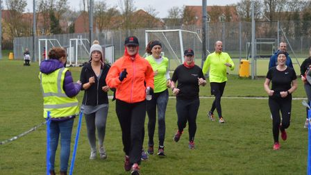 Runners approach the fnish of the Great Cornard parkrun. Picture: GREAT CORNARD PARKRUN FACEBOOK PAG