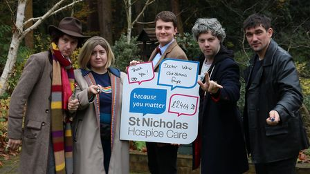 Doctor Who fans raised £2,464.28 for St Nicholas Hospice Care through their stall at the Bury Christ