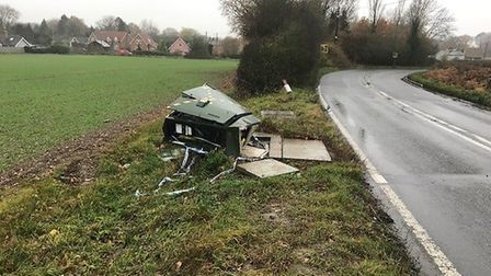 The damaged box on the B1071 is preventing homes in the area from using the internet at the speeds p