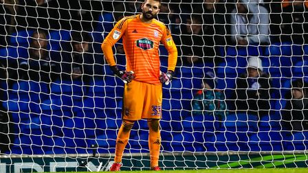 Bartosz Bialkowski, pictured after conceding for a third time in the 3-2 home defeat to Bristol City