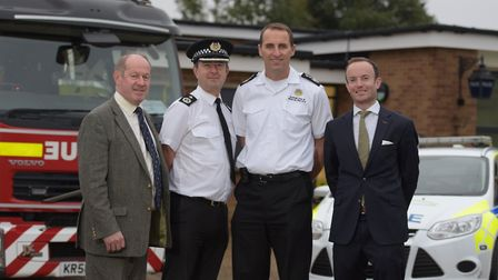 Police and Crime Commissioner Tim Passmore,Deputy Chief Constable, Steve Jupp , Chief Fire Officer,