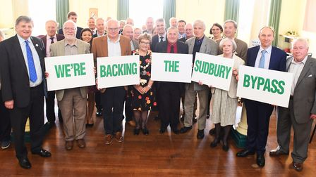 The official launch of a Parliamentary petition calling for a long-awaited Sudbury bypass last year