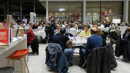 Teams taking part in the John Grose Ipswich charity quiz night at its Citroen, DS and Peugeot Ipswic