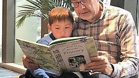 Ian Simpson with grandson Jack Picture: SUPPLIED BY THE SIMPSON FAMILY