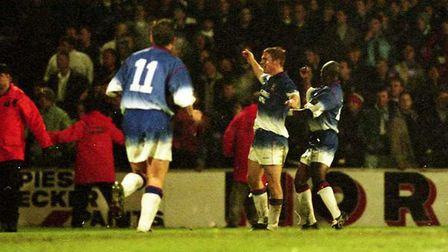 Richard Naylor scored as Town beat Gillingham in 1996
