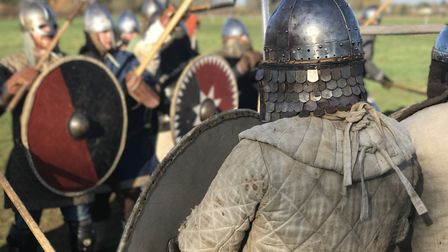 A Viking re-enactment group gathered for an intense training session near Needham Market Picture: NE