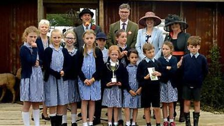 Pupils from St Mary's School, Woodbridge, collected the Gold Award in the School Show Garden Competi