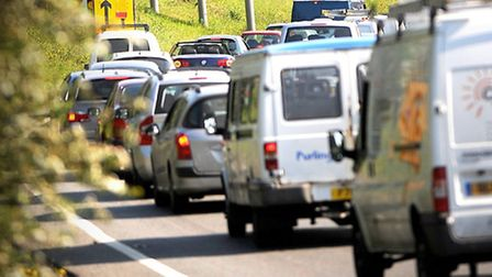 The A14 is experienceing delays of up to 30 minutes between junctions 49 and 50 Picture: GREGG BROWN