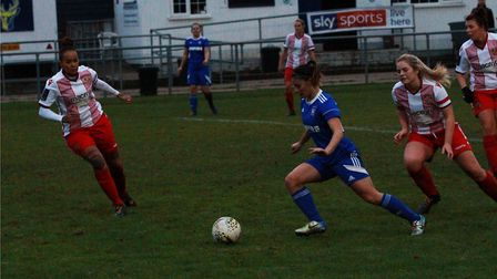 Zoe Cossey made an inpact coming off the bench for Town Picture: ROSS HALLS