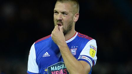 Luke Chambers is taking the positives after Ipswich Town's home loss to West Brom. Picture Pagepix