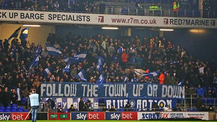 Portman Road was bouncing ahead of the game as more than 22,000 fans packed into the stadium to chee