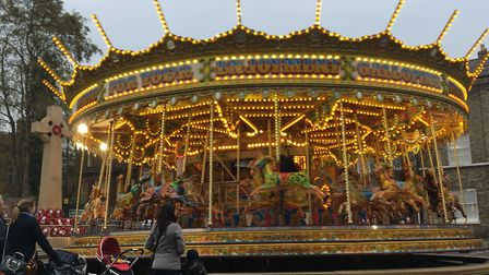 The fairground off Angel Hill Picture: MARIAM GHAEMI