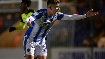 Sammie Szmodics is fired up for the game against Exeter City. He was Carl Marston's U's man of the m