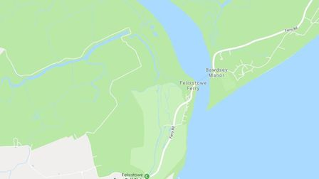 Officers were called to the area between Old Felixstowe and Felixstowe Ferry Picture: GOOGLE MAPS