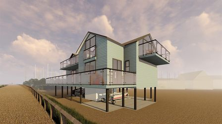 This unique house being built in old Felixstowe, Spendrift,has a guide price of £1million. Picture:
