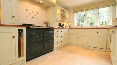 The hand-built kitchen of Driftway House in Woodbridge. Picture: FENN WRIGHT