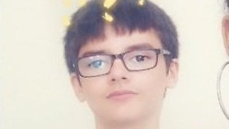 Police are appealing for help to find Brook Lucas from Mildenhall Picture: SUFFOLK CONSTABULARY