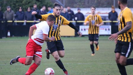 Jack Baker, Stow's stand-in captain, on the ball. Picture: DAWN MATTHEWS
