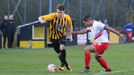 Tom Matthews on the ball for Stow. Picture: DAWN MATTHEWS