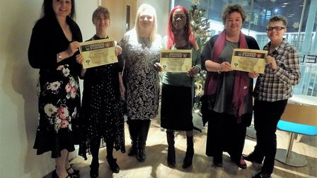 L-R:Zellah Andrew, Amy Cowley, Belinda Twinn-Lee, Mary Goodhand, Ruby Alston and Trina Robus Picture