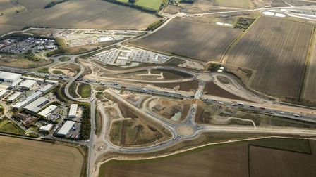 The new bridge at Swavesey in Cambridgeshire. Picture: HIGHWAYS ENGLAND