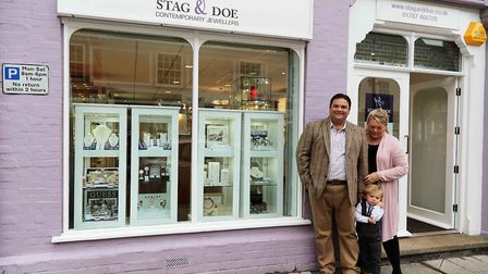 Philip, Danielle and Mylo Zelley outside Stag & Doe in Sudbury PICTURE: Stag & Doe