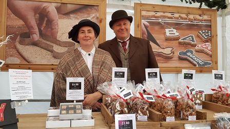 Ken and Frances, Barkers of Suffolk. Bury St Edmunds Christmas Fayre 2018. Picture: RACHEL EDG