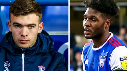 Aaron Drinan and Ellis Harrison played for Ipswich Town's Under 23s this afternoon.