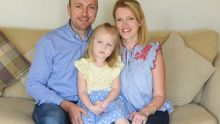 William and Rebecca Brightwell thanked pre-school staff and the air ambulance crew for saving their
