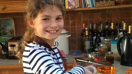 The nine-year-old penned a book of her favourite recipes prior to her death Picture: THE BRAIN TUMOU