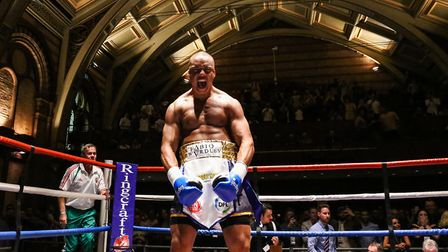 Ipswich heavyweight prospect Fabio Wardley will be fighting at the O2 Arena on December 22. Picture: