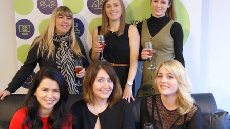 The team at Polkadotfrog, Ipswich Gillian Smith, Laurie Smith and Florence Irvine. Jade Halil, Emm