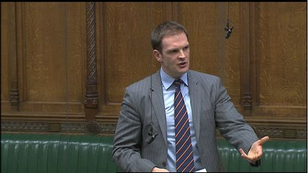 Dr Dan Poulter speaking in the House of Commons Picture: HOUSE OF COMMONS