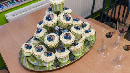 Special cupcakes were made for Clive Picture: TUNBRIDGE PHOTOGRAPHY