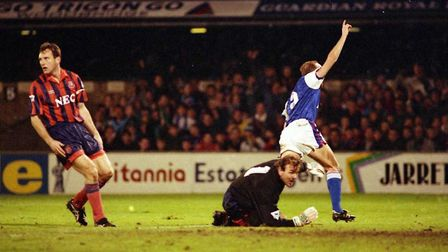 Gavin Johnson scored on this day in 1992 as Town remained unbeaten at home