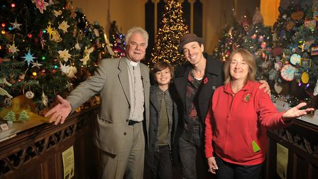 Reverend Michael Eden and Judy Eden with Britains Got Talent stars 'Jack and Tim' Picture: SARAH L