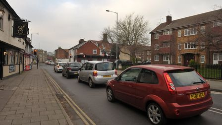 Traffic in St Helen's Street, Ipswich Picture: SARAH LUCY BROWN