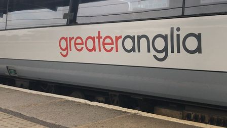 A Greater Anglia train was delayed at Chelmsford Picture: NEIL PERRY