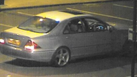 CCTV image of the car that police want to trace in connection with an incident in Haverhill earlier
