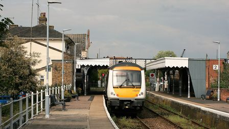 The incident happened at Woodbridge station in Suffolk Picture: PAUL GEATER