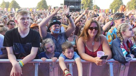 Music fans enjoying Wolf Alice on the Obelisk Latitude 2018. Picture: Nick Butcher