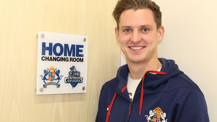 Matt Hunn pictured outside the home changing room at Copdock & Old Ipswichian Cricket Club. Picture: