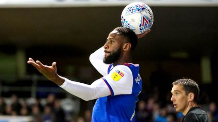 Janoi Donacien has started nine Championship games for Ipswich Town. Photo: Steve Waller