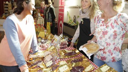 Justine Paul of Suffolk Market Events (left) is launching a new farmers' market in Long Melford Pic