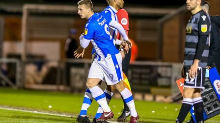 Luke Norris comes on for Mikael Mandron as a substitute during Saturday's 1-0 win over Macclesfield.